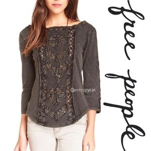 Free People Truly Madly Lace Top